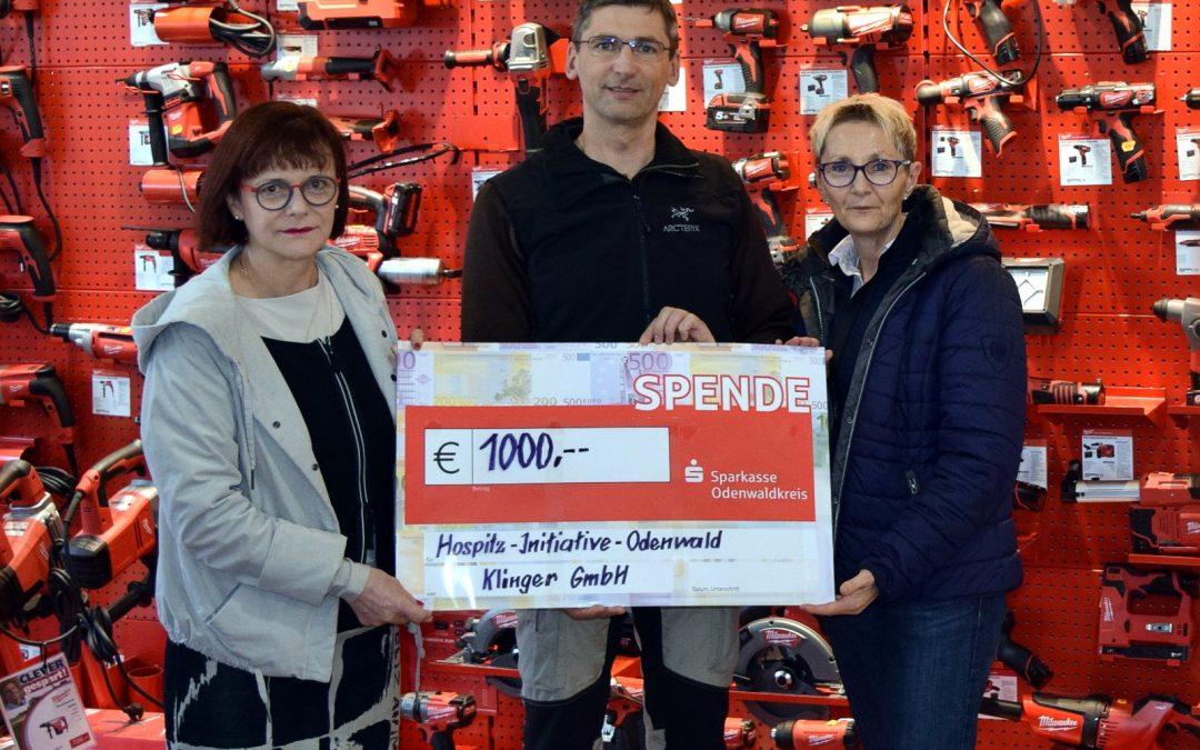 Spende der Firma Klinger aus Bad König