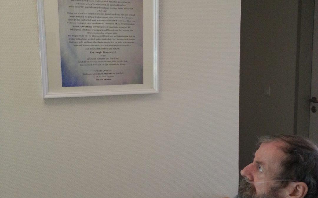 """Hans-Peter Bock: """"Ich weiß"""" – ein Patient schreibt einen Hospiz-Text"""